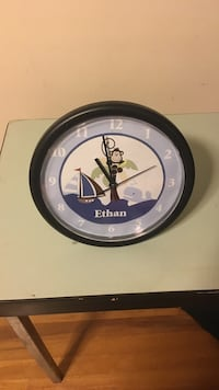 black and blue ethan round analog wall clock Springfield, 22151
