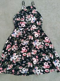 black, pink, and white floral sleeveless dress Moreno Valley, 92557