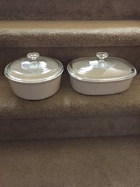 two white ceramic food containers Edmonton, T6V 1P3