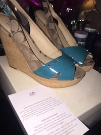 AUTHENIC COACH Size 8 Wedges Mansfield, 76063