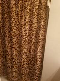 brown and black leopard print long-sleeved dress Fort Mill