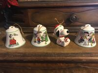 4piece Christmas peanuts ornaments 10