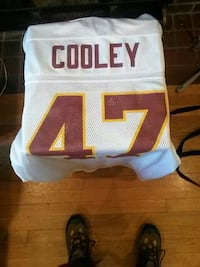 white and red Dooley 47 basketball jersey College Park, 20740