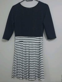 Robe casual à manches 3/4 noire Woippy, 57140
