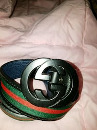 Gucci black buckle, red and green stripe belt. Toronto, M3N 1J6