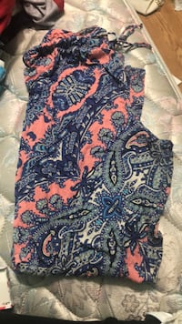 blue and brown floral textile Clanton, 35046