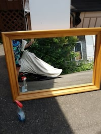 square brown wooden framed mirror Perth, K7H 2A2