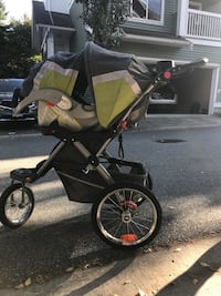 baby's black and yellow jogging stroller Surrey, V4N