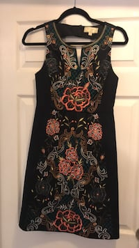Anthropologie Navy Embroidered Dress Size 2 Mississauga
