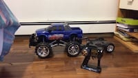 blue RC monster truck toy
