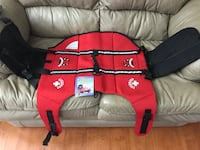 New, unused  Paws Aboard Neoprene Designer Doggy Life Jacket, Extra Large, Red Lifeguard Weight 90+ lbs St Thomas, N5R 6M6