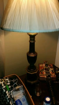 Beautiful wood tooled post lamp,with gold leaf  Long Beach, 90804