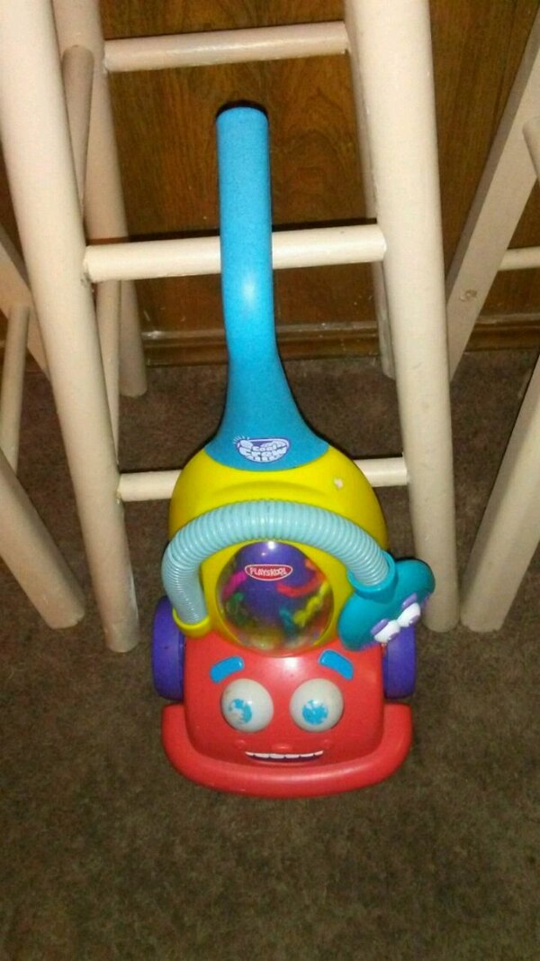 toddler's blue and red learning walker