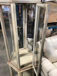Wood and glass Curio Cabinet TORONTO
