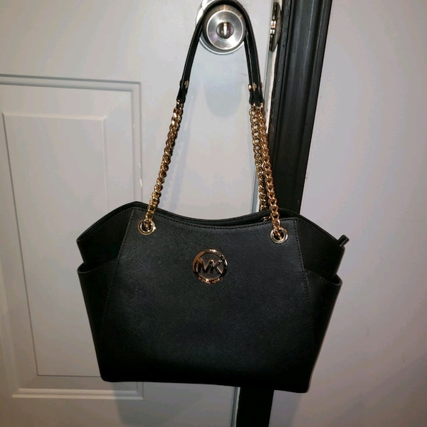 27c6d4daa05b Used black Michael Kors leather tote bag for sale in Irving - letgo