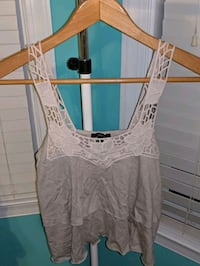 Forever 21 Tan and White Tank Top Stone Ridge, 20105