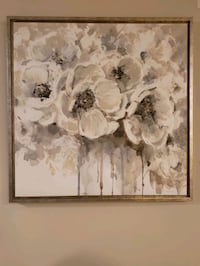 white and black petaled flowers painting Brockport, 14420