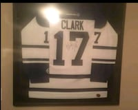 Wendell Clark Autographed and Framed Jersey  Shelburne, L0N 1S9