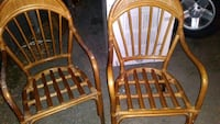 two brown wooden windsor chairs San Antonio, 78201