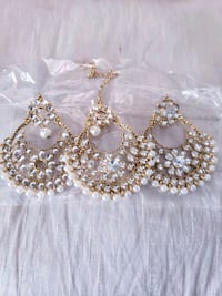 Brand nrw silver and gold earrings with tikka Edmonton, T5Y