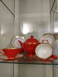 Red and gold Tea set Glen Burnie, 21061