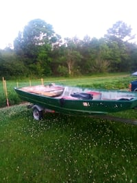 Flat boat and trailer