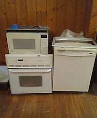 Oven microwave. Dishwasher