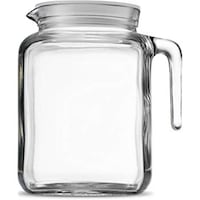 Bormioli Rocco Hermetic Seal Glass Pitcher With Lid and Spout [68 Ounce] Alexandria