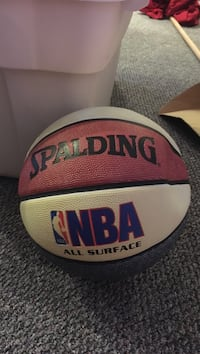 white and red Spalding NBA basketball Richmond, V6Y 3Z1
