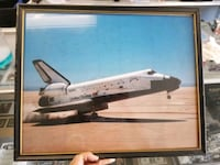 NASA signed photo, 1982. Frame needs work. Brooksville, 34601