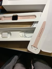 Rose iWatch series 3 perfect condition with extra length band, charger and original box   Aurora, 76078