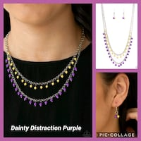 Dainty Distraction purple necklace