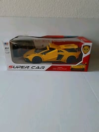 Yellow car with remote control