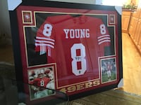 STEVE YOUNG: Autographed and Framed JERSEY  Lafayette, 94549