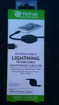 Retractable lighting to usb cable