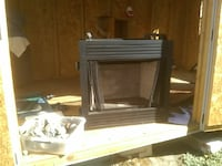 Gas fireplace and logs