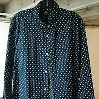 black and white polka dot button up shirt Upper Darby