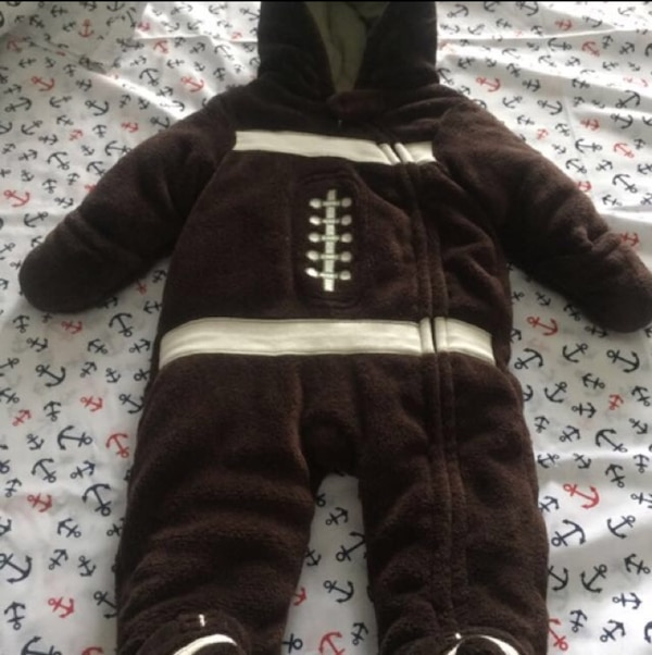 5f6c18a98f5b8 Used toddler s brown and white overall suit for sale in Brampton - letgo