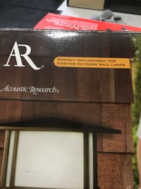 Acoustic research outdoor wall lantern and wireless speaker Calgary