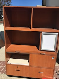 brown wooden computer desk with hutch Pomona, 91768