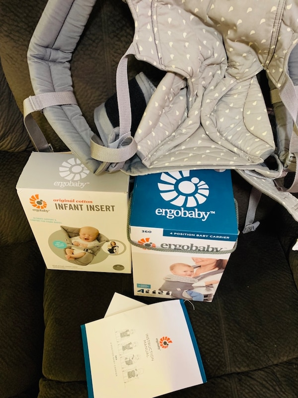Ergobaby carrier and infant insert  846e2062-5360-4ee8-8a76-0dda364f39c7