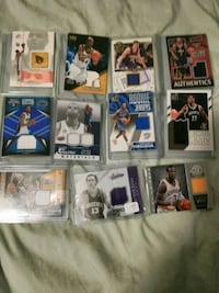 30 nba Game worn jersey and Relic cards.