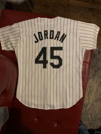 Michael Jordan White Sox Russell Authentic Lettered Jersey Chicago, 60618