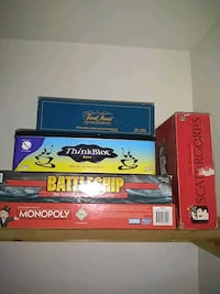 4 Board games for sale.