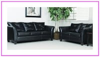 Sofa and Loveseat Set - Black Windsor Mill