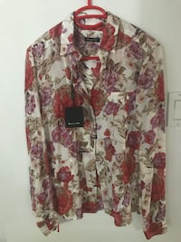 Massimo Dutti Flower Printed Blouse MONTREAL