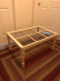 rectangular brown wooden framed glass top coffee table Hagerstown, 21740