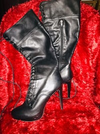 Lace up knee high boots Kingston, K7K 6T9