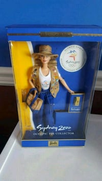 blue and white Barbie doll box Calgary, T2Z 3Y5