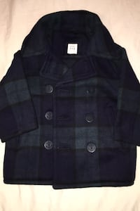 Baby Gap Black Watch Tartan Peacoat / Pea coat Jacket